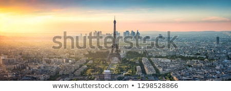belo · pôr · do · sol · Torre · Eiffel · rio · Paris · França - foto stock © givaga