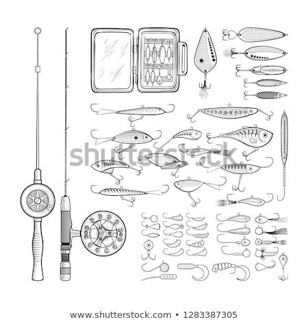 Fishing lures tackle collection minnows Stock photo © lunamarina