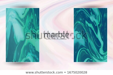 Ink Drawing of a Persian Green Book Vector Illustration Stock photo © cidepix