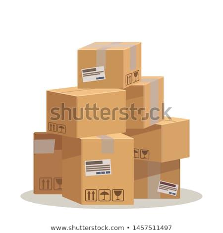 pacchetto · cartone · scatole - foto d'archivio © marysan