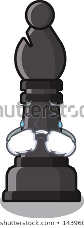 Sad Cartoon Chess Bishop Stock photo © cthoman