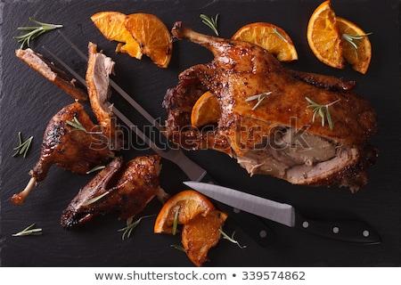 Eend sinaasappelen voedsel borst diner Stockfoto © M-studio