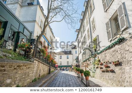 Gezellig toeristische steegje Parijs straat Frankrijk Stockfoto © vapi