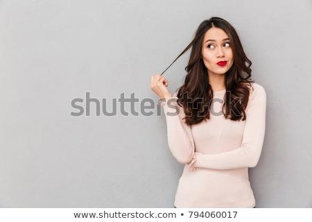 Jovem mochila olhando menina criança feminino Foto stock © JamiRae