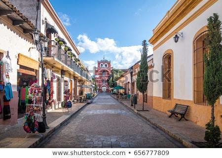 Arhitectură Mexic clasic spaniol colonial afişa Imagine de stoc © THP