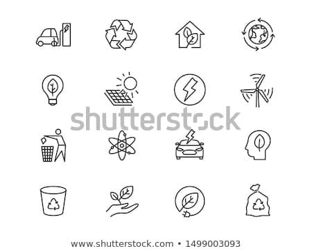 Energía solar panel icono color diseno tecnología Foto stock © angelp