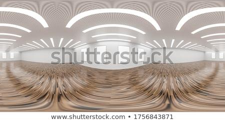 Boş galeri oda resim iç beyaz Stok fotoğraf © albund