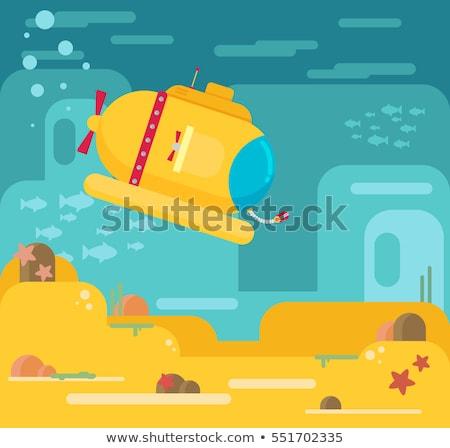 Tengeralattjáró víz illusztráció vektor tájkép tenger Stock fotó © jossdiim