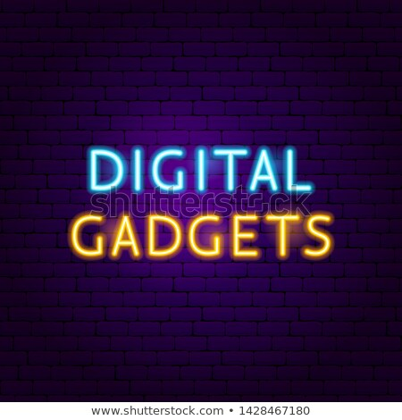 Stock photo: Digital Gadgets Text Neon Label