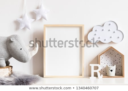 Rhino with template frame Stock photo © bluering
