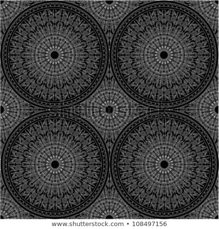 ретро кружево вектора шаблон черно белые декоративный Сток-фото © RedKoala