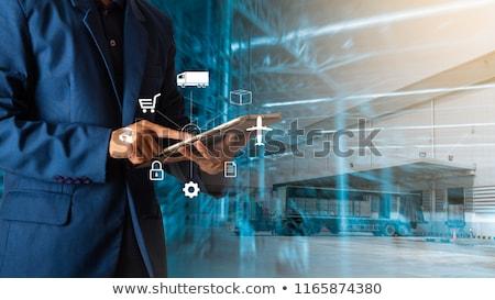 tedarik · zincir · yönetim · iş · arka · plan · satış - stok fotoğraf © mazirama