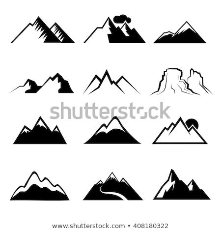 Szczyt górskich krajobraz monochromatyczny wektora rock Zdjęcia stock © pikepicture