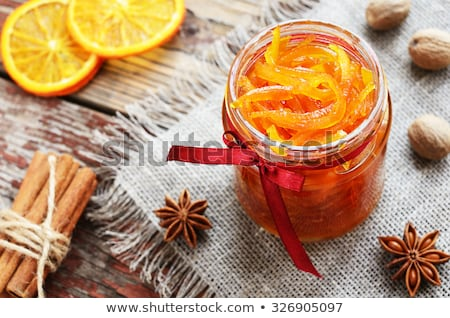 Preserved Orange in Rustic Decorated Glass Jar Stock photo © robuart