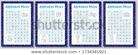 スペイン語 子供 少女 アルファベット 実例 着用 ストックフォト © lenm