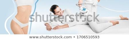女性 大腿 マッサージ クローズアップ スパ 手 ストックフォト © Kzenon