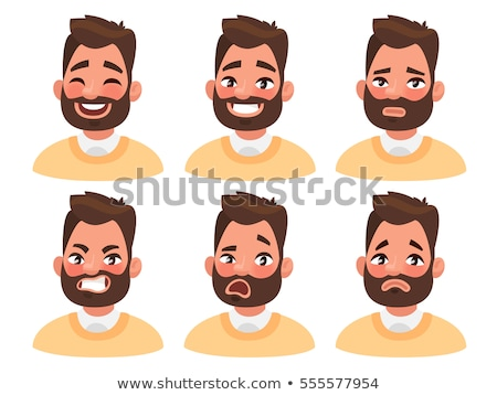 Emotion of Happiness on Man Face Illustration Stock photo © robuart