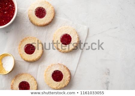 reçel · sandviç · kurabiye · glasaj · şekeri · gıda · plaka - stok fotoğraf © barbaraneveu