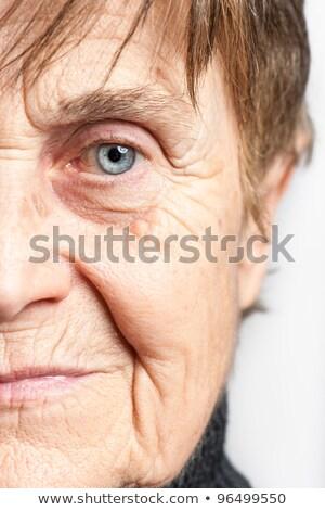Mitad cara altos mujer belleza visión Foto stock © dolgachov