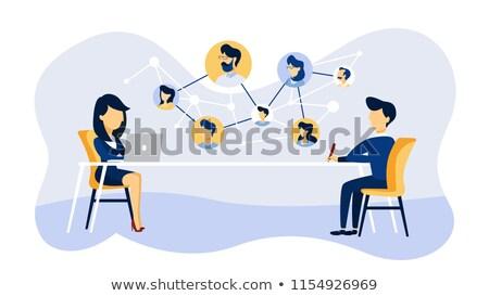 Naar professionele online interview vector team Stockfoto © robuart