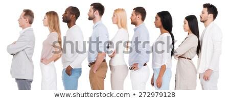 Widok z boku różnorodny ludzi biznesu patrząc poważny działalności Zdjęcia stock © wavebreak_media