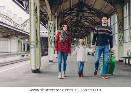 выстрел счастливая семья Nice поездку праздников Сток-фото © vkstudio