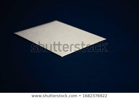 Bézs papír kártya kék üzlet luxus Stock fotó © Anneleven