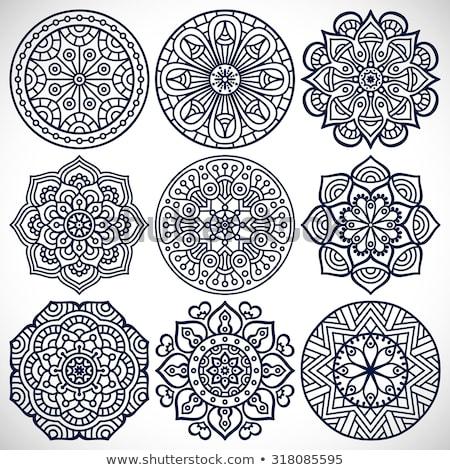 ヴィンテージ 装飾的な 要素 曼陀羅 パターン ベクトル ストックフォト © Margolana