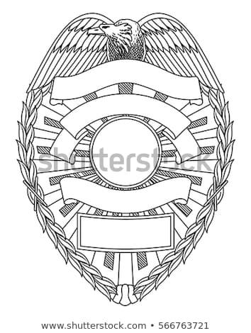 Politie sheriff rechtshandhaving badge geïsoleerd beide Stockfoto © jeff_hobrath