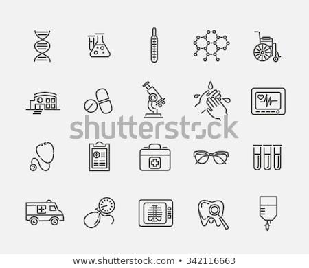 Orvosi drogok kéz ikon vektor skicc Stock fotó © pikepicture
