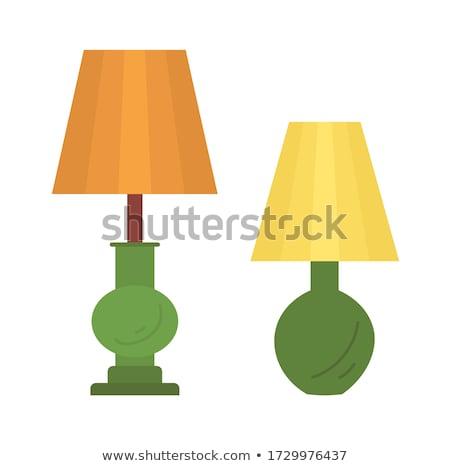 Szabvány padló lámpa izolált fehér vektor Stock fotó © robuart
