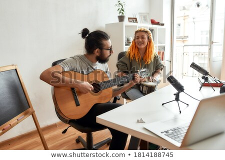 a couple playing djembe Stock photo © photography33