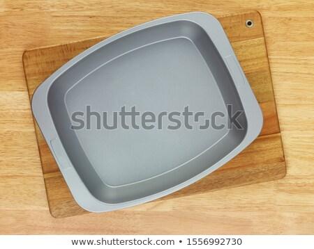 Fém sütés edény ház piték gyümölcs Stock fotó © sibrikov
