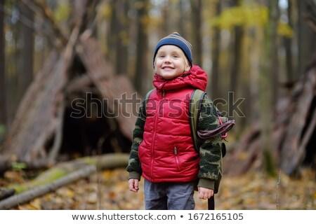 Barınak orman sonbahar güzel renk gün batımı Stok fotoğraf © justinb
