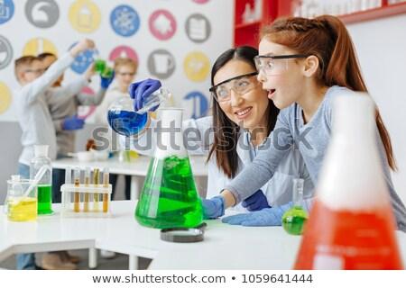 Chimica studente insegnante lavoro istruzione notebook Foto d'archivio © photography33
