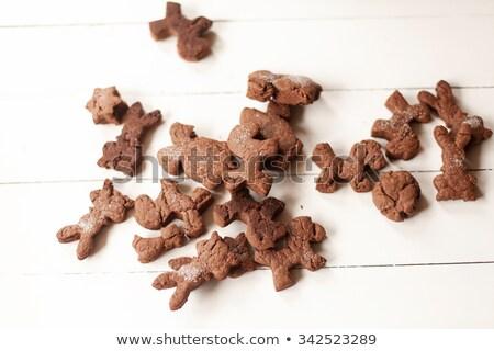 şeker kurabiye biçim hayvanlar ahşap Stok fotoğraf © happydancing