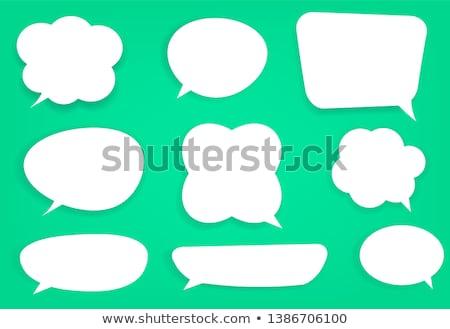 szövegbuborékok · vektor · szett · különböző · szimbólumok · felirat - stock fotó © alvaroc