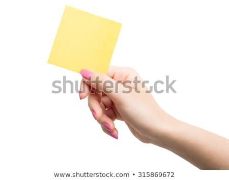 business woman holding pads of notepaper Stock photo © Rob_Stark