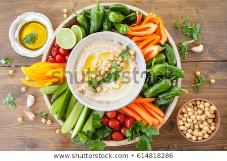 野菜 · ディップ · プレート · 食品 · サラダ · 野菜 - ストックフォト © M-studio