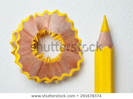 Citromsárga ceruza izolált fehér üzlet iroda Stock fotó © designsstock