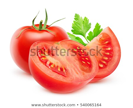 Segment juicy tomatoes with leaves Stock photo © Masha