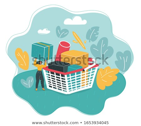 Basket full with Cornflakes Stock photo © tepic