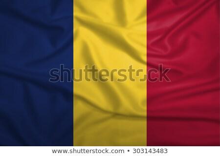 Fabric texture of the flag of Romania Stock photo © maxmitzu