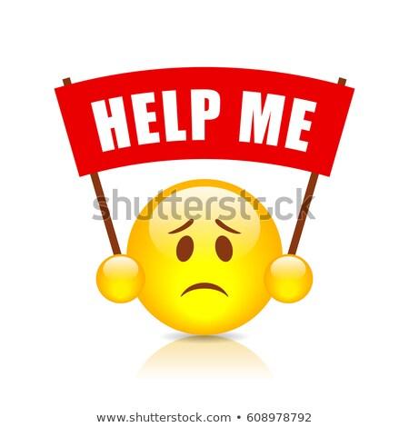 segítség · engem · írógép · közelkép · lövés · posta - stock fotó © samsem