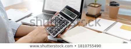 accountant using calculator stock photo © photography33