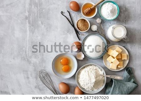 Ingredientes leche harina mantequilla huevos azúcar Foto stock © zhekos