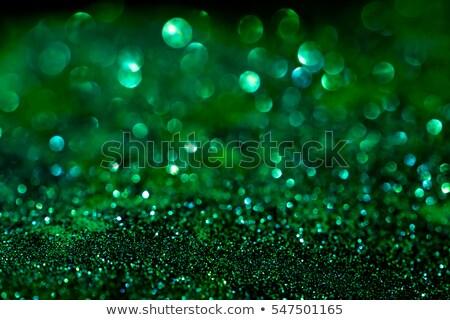 Verde diamante reflexão prato estrela jóias Foto stock © artizarus