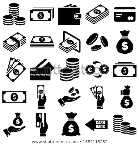 Vector icon cash and lock stock photo © zzve