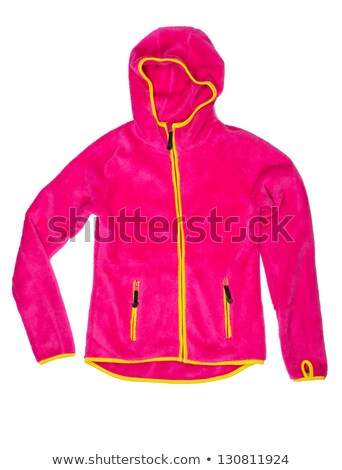 Bright red sports jacket with a hood and yellow accents Stock photo © RuslanOmega