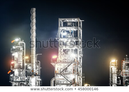 petrochemical factory chimneys Stock photo © Mikko
